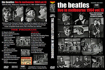 The Beatles: Live In Melbourne 1964 Vol.13 Dvd 2014 Remaster
