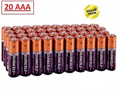 (20 Pack) Duracell AAA 1.5v CopperTop Alkaline Batteries (Exp 2024)