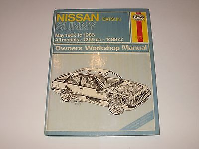 Nissan Datsun Sunny  Book Owners Workshop Manual Haynes May 1982 To 1983.