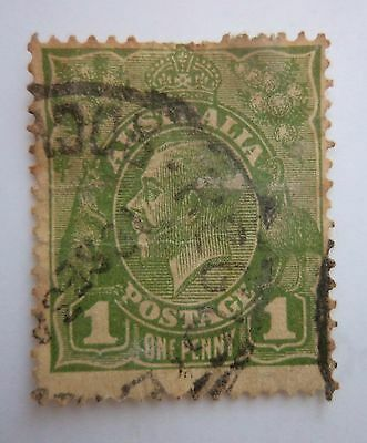 Australia One Penny Large  Stamps Green VERY VERY RARE