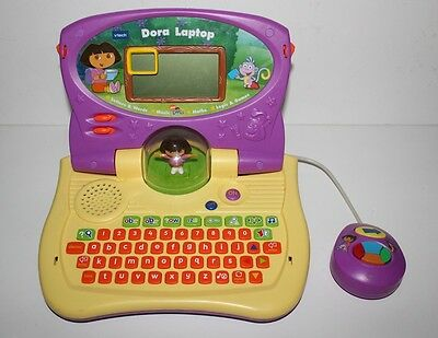Vtech Nick Jr Dora The Explorer Computer Game System Console Educational Toy