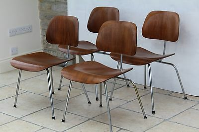 Set of 4 original 1955 Eames DCM dining chairs