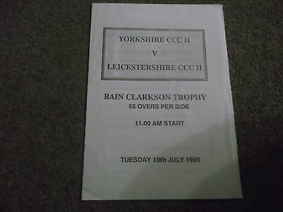 Yorkshire V Leicestershire Bain Clarkson Trophy 10Th July 1990