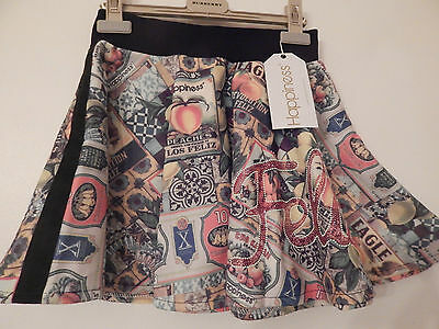 Bnwt Happiness 10 Fruity Quaint Advertising Print Skirt Age 9-11