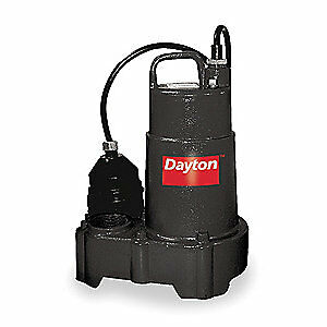 "DAYTON Sump Pump,1/2 HP,1-1/2"" NPT,15 ft., 3BB79"