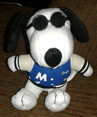Metlife Snoopy Plush with Sunglasses and Varsity Letterman Jacket