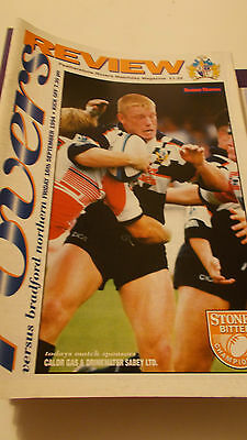 16.9.94 Featherstone Rovers v Bradford Northern programme