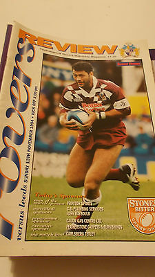 13.11.94 Featherstone Rovers v Leeds programme
