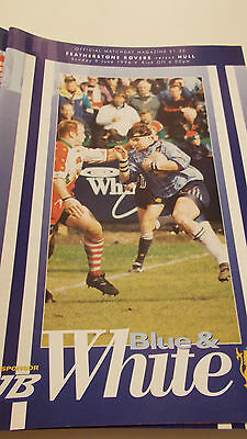 9.6.96 Featherstone Rovers v Hull programme