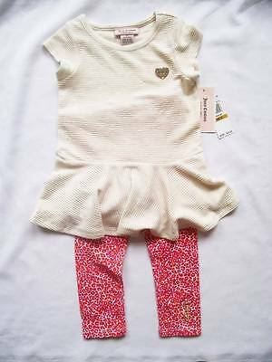 NEW Juicy Couture Girls Dress/Leggings Tracksuit Outfit 3-4 y 4T