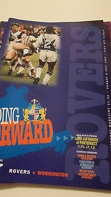 6.7.97 Featherstone Rovers v Workington Town programme