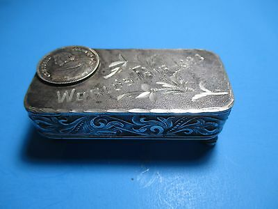 1893 World's Fair Chicago Colombian Exposition Rare Ornate Silver plate Box VS2