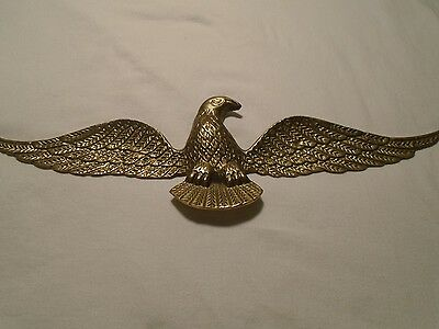 Brass Eagle Wall Hanging 16 Inch Wing Span