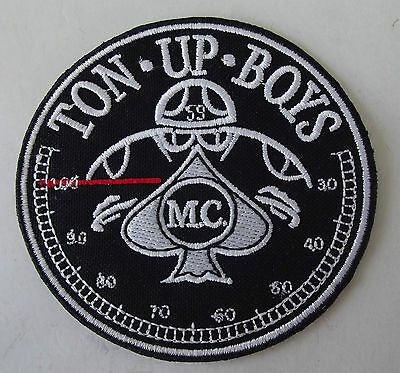 Embroidered cloth patch ~  59 Rockers Ton Up ~ .  E030701