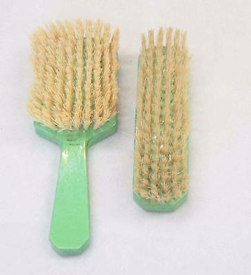 Green Brush Set Made In England 1950s #10384