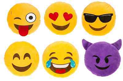 Emoji Moji Noisy Cushions Sunshades Love Hearts Devil Tears Smile 6 Designs