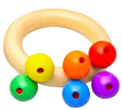 Teething Ring - Natural wooden - Baby
