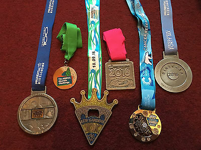 Medal Collection Ride London Gherkin Challenge Richmond Run Winter Run Olympic