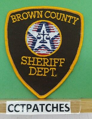 Brown County, Wisconsin Sheriff Orange Border (Police) Shoulder Patch Wi
