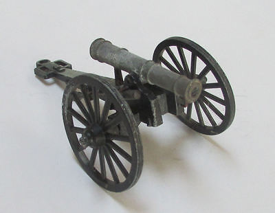 Vintage Metal toy Cannon with ramrod made in Italy GT ART 374 length 6 ½ ""