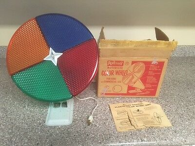 Vintage Penetray Motorized Christmas Tree Color Wheel with Box and Instructions