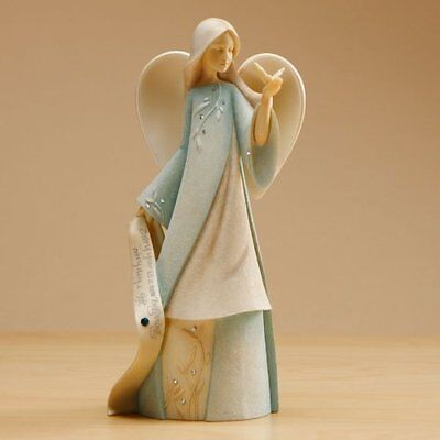 Enesco Foundations March Monthly Angel Figurine, 7-1/2-Inch