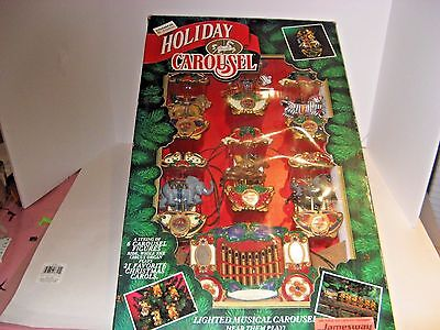 Vintage Mr. Christmas Holiday Carousel-Lighted Musical Tree -New In Box-