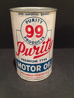 Purity 99 Quart Oil Can Vintage collectible advertising Alberta