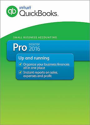 Intuit QuickBooks Desktop Pro 2016 Small Business Accounting |3 Users| Download