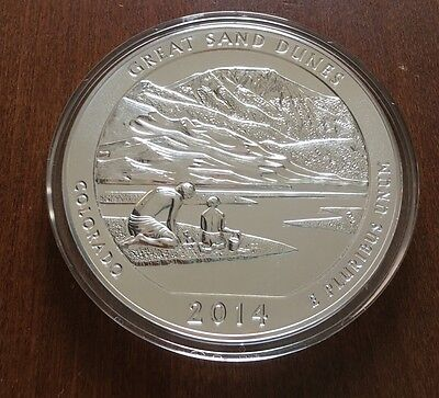 2014 5 oz Silver ATB Great Sand Dunes, CO America The Beautiful Coin Low Mintage