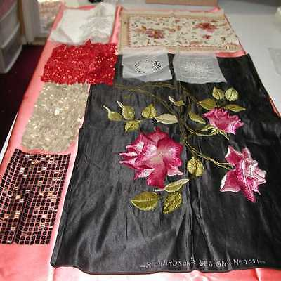 Vintage Hand Embroidered & Beaded Fabrics, Cottons, Silk Bases (LOT 2)
