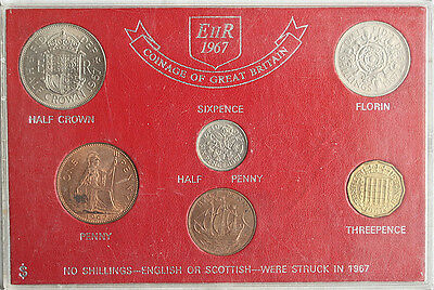 Great Britain 1967 Complete Set 6 Coins UNC