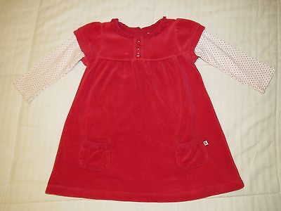 Toddler Girls 24 Months 2T Carter's Red Long Sleeve Dress Holiday Christmas