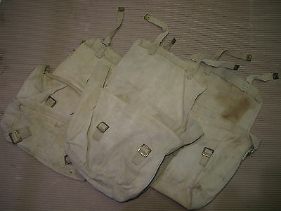 WW2 British Army 1937 pattern webbing Haversack P37 Small Pack Used Lot of 3