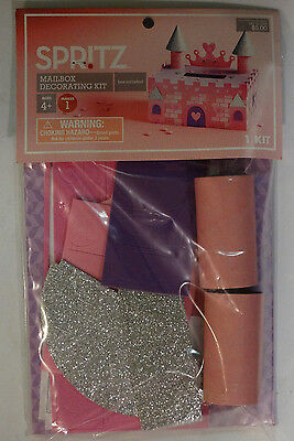 Spritz Valentines Castle Mailbox Decorating Kit Craft Paper Punch Outs