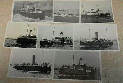 Steam Boat Postcards X 8.