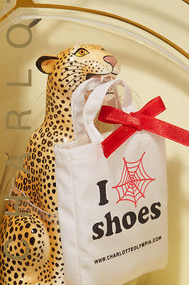 Charlotte Olympia Barbie Doll 1/6 Scale Leopard Statue & Tote Bag
