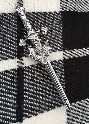 New Scottish Highland Thistle Kilt Pin/Sword Kilt Pin/Brooch Kilt Pin