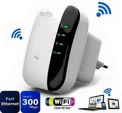 300Mbps 802.11 Wifi Repeater Wireless-N AP Range Signal Extender Booster #