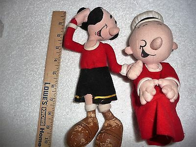 2 Plush Popeye Characters Sweet Pea And Olive Oil
