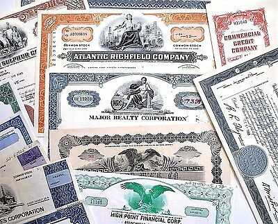 Over 40 Vintage Stock Certificates ~ Industrial ~ Oil ~ Mining ~ Financial