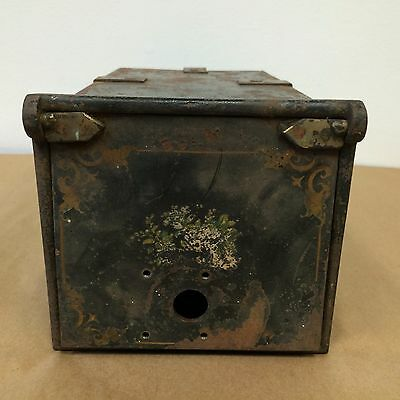Antique 1800's Steel Post Office Box / Mail Box Very Ornate