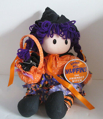 Little Miss Muffins The Friendly Witch 1997 Plush Doll Halloween Joelson