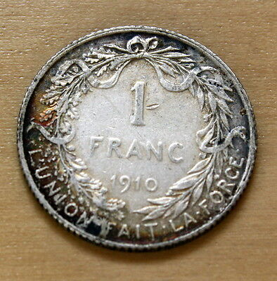 1910 Belgium 1 Franc Silver legend in French