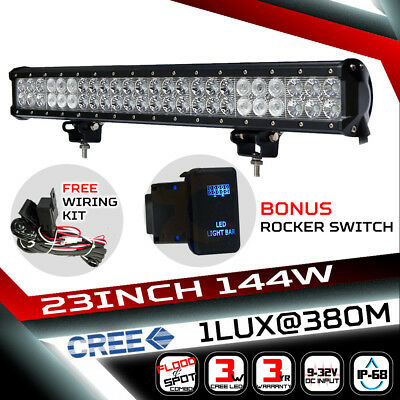23inch 540W LED Light Bar Philips Spot Flood Combo Offroad Work Driving 4WD