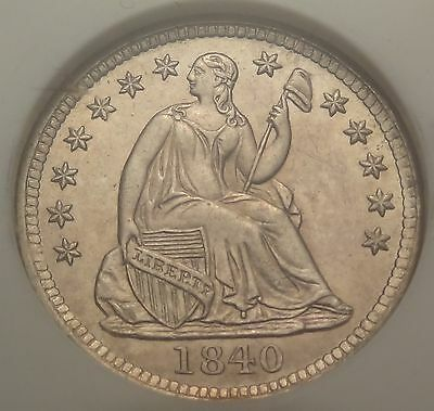 NGC MS62 CAC 1840 Seated Liberty Half Dime with Drapery H10c