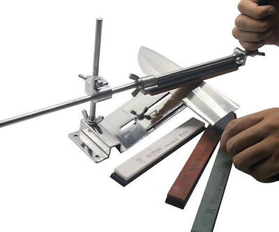 Knife Sharpener Professional Kitchen Sharpening System Fix-angle With 4 Stone #
