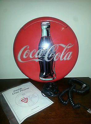 1995 Coca Cola Light Up Disc Telephone Wall Tabletop