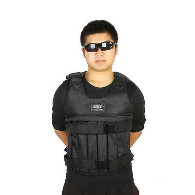 44LB 20KG Adjustable Workout Weight Weighted Vest Exercise Training Fitness #
