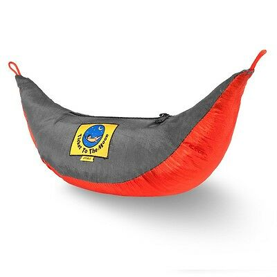 Ticket to the moon Double Hammock Orange / Dark grey | Camping Outdoor Hiking